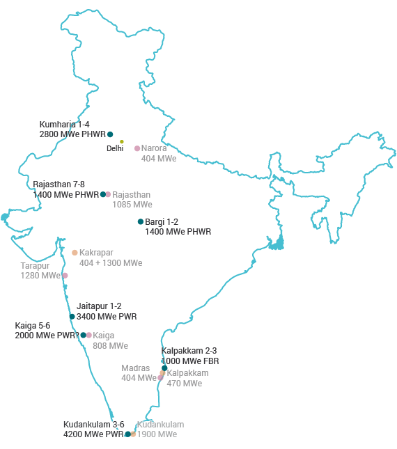 Nuclear Power in India | Indian Nuclear Energy - World ...