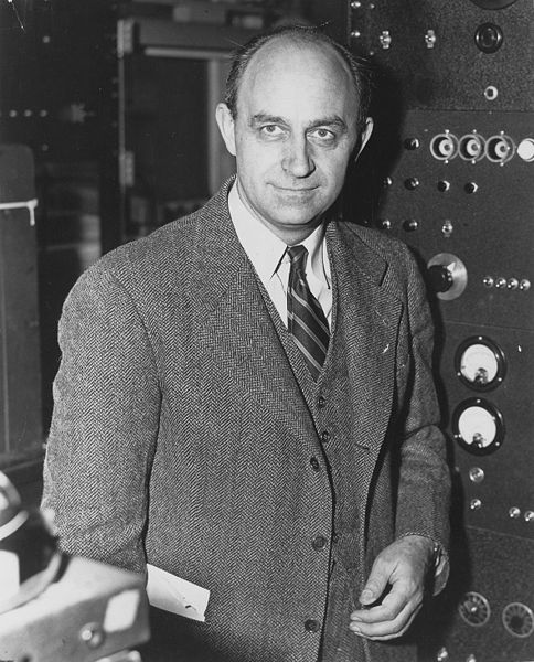 Enrico Fermi creator of the world's first nuclear power reactor circa 1943 to 1949